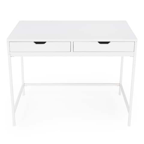 Butler Belka White Desk with Drawers