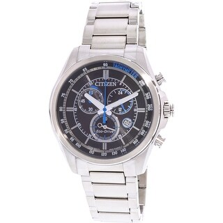 Citizen Men's Eco-Drive Silver Stainless-Steel Fashion Watch