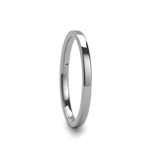 THORSTEN - REGINA 2mm wide Flat Style Womens Tungsten Ring