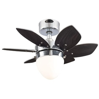 "Westinghouse 7864400 Origami 24"" 6 Blade Hanging Indoor Ceiling Fan with Reversible Motor, Blades, Light Kit, and Down Rod"