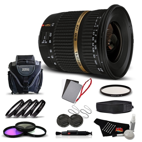 Tamron SP AF 10-24mm f / 3.5-4.5 DI II Lens For Canon International Version (No Warranty) Advanced Kit - black