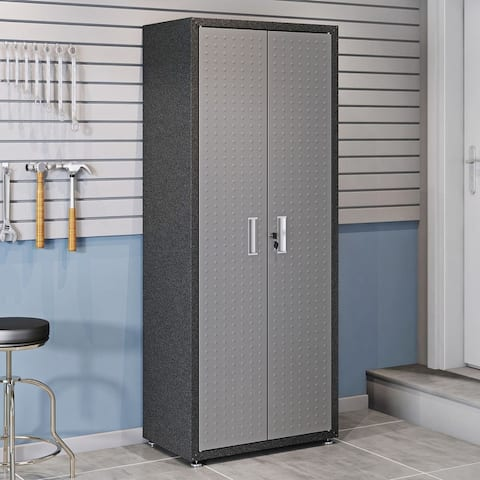 Fortress Grey Metal 75.4-inch 4-shelf Garage Cabinet