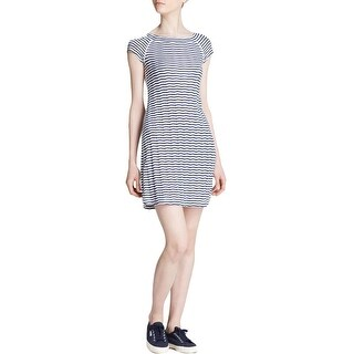 Three Dots Womens Casual Dress Chevron Striped