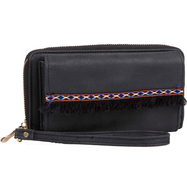 Mad Style Black Boho Fringe Phone Wallet