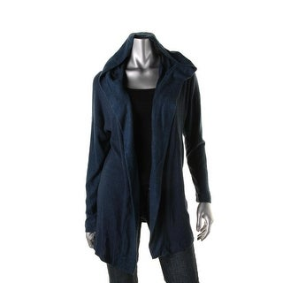 Nally & Millie Womens Hooded Open Front Cardigan Sweater
