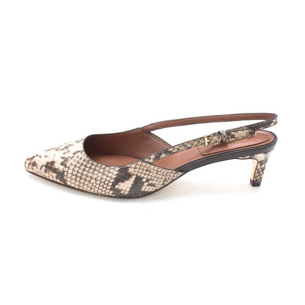 Cole Haan Womens Gioasam Pointed Toe SlingBack, Roccia Snakeprint, Size 6.0