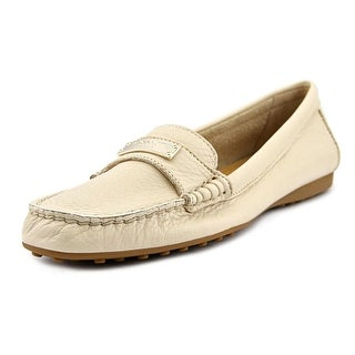 Coach Fredrica Women  Moc Toe Leather Ivory Loafer