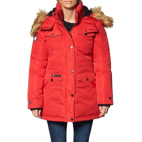 Canada Weather Gear Parka Coat for Women-Insulated Faux Fur Hooded Winter Jacket