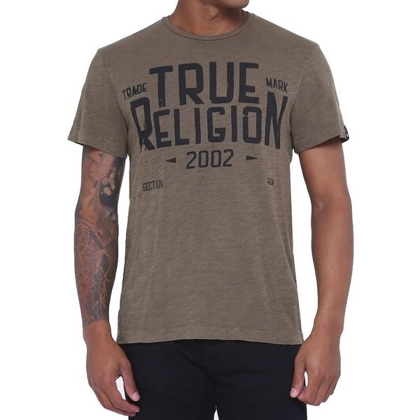 dc38d5d9b Shop True Religion NEW Brown Mens XL Slub Established Graphic Tee T-Shirt -  Free Shipping On Orders Over $45 - Overstock - 20763418