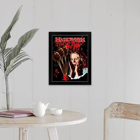 """Halloween (1978)"" Black Framed Print"
