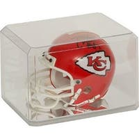 Football Mini Helmet Acrylic Display Case Holder w Mirrorlike base Beveled Edges  USA Made