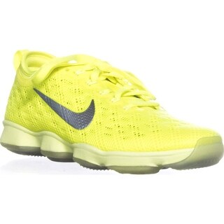 Nike Zoom Fit Agility Lace-Up Athletic Sneakers, Volt/Ivory Hyper Grape - 5.5 us / 36 eu