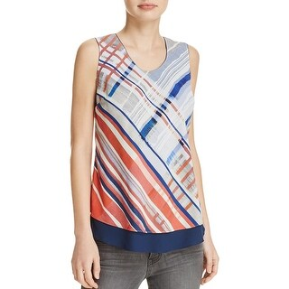 Nic + Zoe Womens Tank Top Striped Sleeveless
