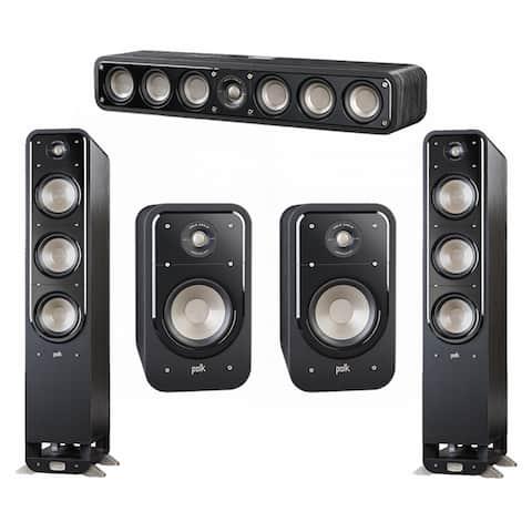 Polk Audio Signature 5.0 System with 2 S60 Speakers, 1 Polk S35, 2 Polk S20 Speakers