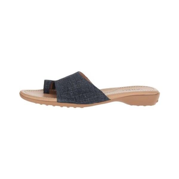 VANELi Womens tallis Fabric Split Toe Casual Slide Sandals