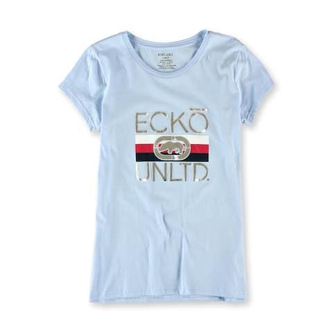 Ecko Unltd. Womens Triple Up Graphic T-Shirt, Blue, Medium