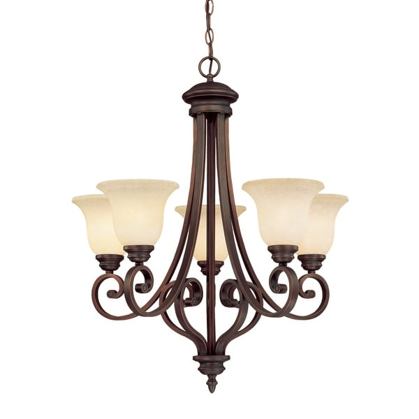 Millennium Lighting 1205 Oxford 5-Light Single Tier Chandelier - Rubbed bronze - n/a