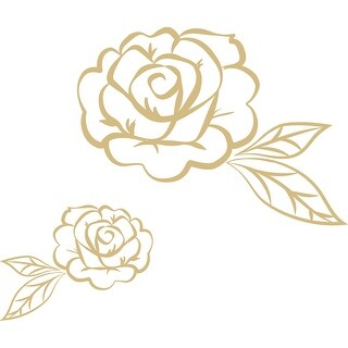Brewster WPK2811  6 Piece Stay Rose Wall Decorating Kit - Metallic