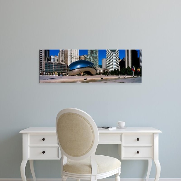 Easy Art Prints Panoramic Image 'Sculpture, Cloud Gate, Millennium Park, Chicago, Illinois' Canvas Art