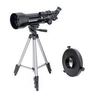 Celestron 21035 + 94221 Bundle Celestron Travel Scope 70 Telescope