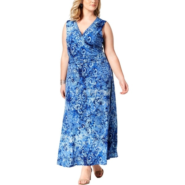 05eb15afb32 Shop NY Collection Womens Plus Maxi Dress Petite Printed - Free ...