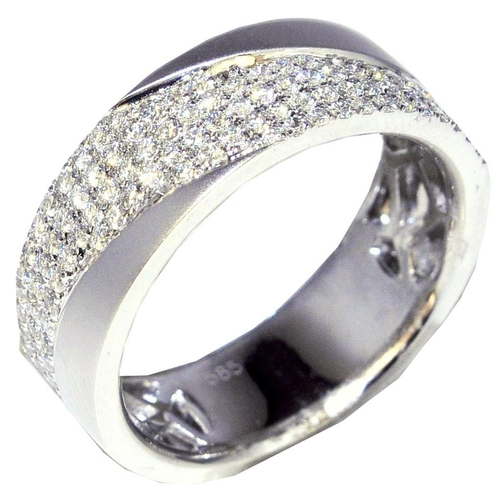 It is a graphic of Extra Wide Wedding Band Mens 33030mm 33030K White Gold 330/330cttw Sand Finish(30.30cttw) By MidwestJewellery