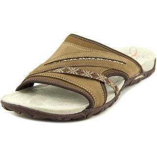 Merrell Terran Slide Open Toe Leather Slides Sandal