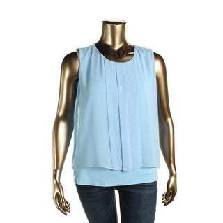 Calvin Klein Womens Blouse Lined Pleated