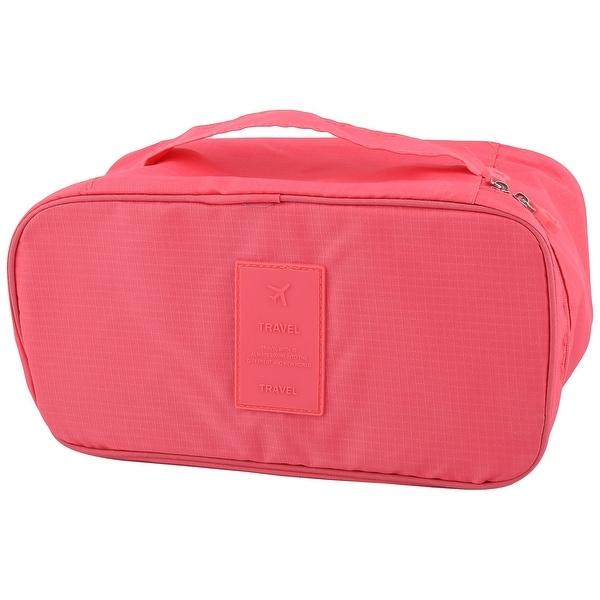 Travel Drawer Dividers Closet Underwear Bra Organizer Box Storage Bag Hot  Pink