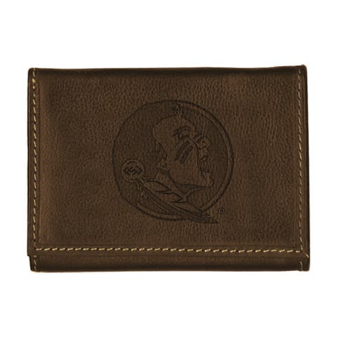 Florida State University Contrast Stitch Trifold Leather Wallet