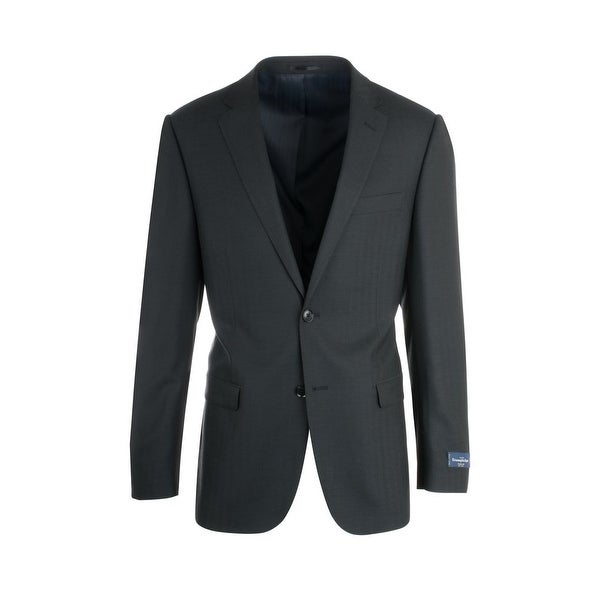 Shop Zegna Ermenegildo Cloth Superfine Wool Black