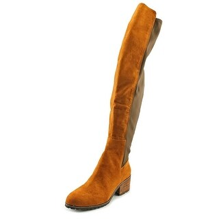 Charles By Charles David Rose Women Round Toe Canvas Brown Over the Knee Boot
