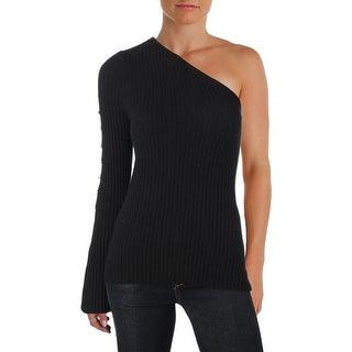 Aqua Womens Sweater Cashmere One Shoulder