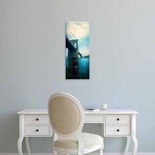 Easy Art Prints Panoramic Image 'Brooklyn Bridge, East River, Brooklyn, New York City, New York' Canvas Art