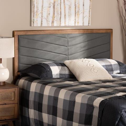 Iden Modern and Contemporary Wood Headboard-Dark Grey