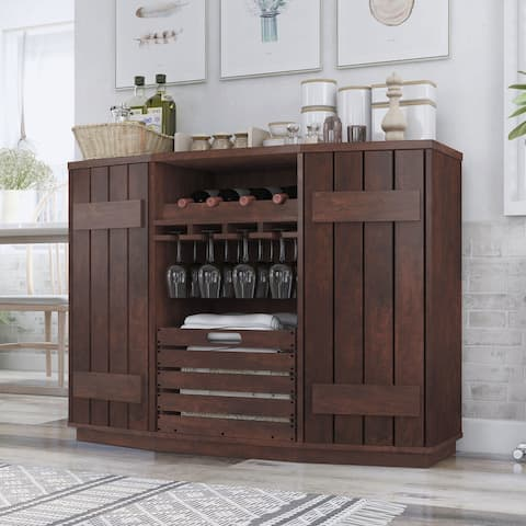 Furniture of America Lath Rustic Double Doors Server