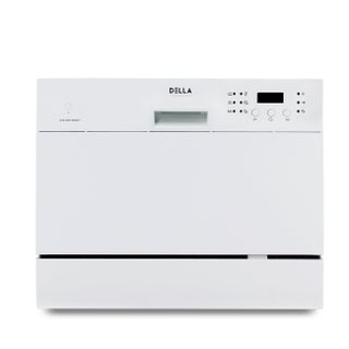 DELLA Mini Compact Countertop Stainless Steel Dishwasher w/ LED & 6 Wash Cycles