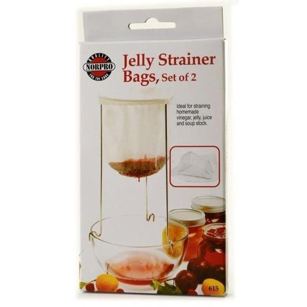 Norpro 100% Cotton Reusable Jelly Strainer Bags - 2 pack - White. Opens flyout.