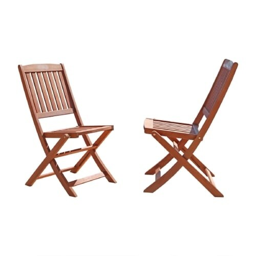 Shop Vifah V04 Malibu 18 Inch Wide 2 Piece Eucalyptus Dining Chair
