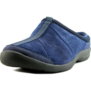 Easy Spirit 7 Kiln Women W Round Toe Suede Blue Mules