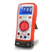 Digital Backlit LCD Multimeter, AC, DC, Volt, Current, Resistance, Transistor and Range Measurement with Protective Rubber Case