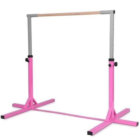 Adjustable Gymnastics Horizontal Bar for Kids - Pink
