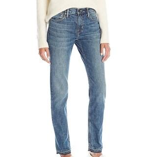 Vince NEW Blue Women's Size 25 Frayed Hem Stonewashed Skinny Jeans