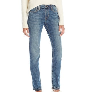 Vince NEW Blue Women's Size 26 Frayed Hem Stonewashed Skinny Jeans