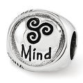 Sterling Silver Reflections Mind Body Spirit Trilogy Bead (4mm Diameter Hole) - Thumbnail 0