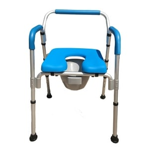 Versatile(tm) 3-in-1 PADDED Toilet / Bath Shower Chair - Commercial Quality with Armrests & Back + Adjustable Height