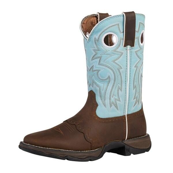 """Durango Western Boot Womens 10"""" Rebel Saddle Rocker Heel Powder"""