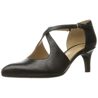 Naturalizer Womens Okira Leather Closed Toe Ankle Strap D-orsay Pumps