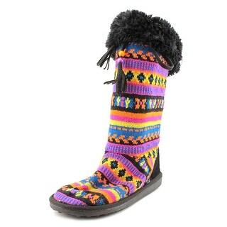 Muk Luks Ava Women Round Toe Canvas Winter Boot