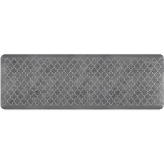 "WellnessMats Estates Trellis Anti-Fatigue Office, Bathroom, & Kitchen Mat, Slate, 72"" by 24"""